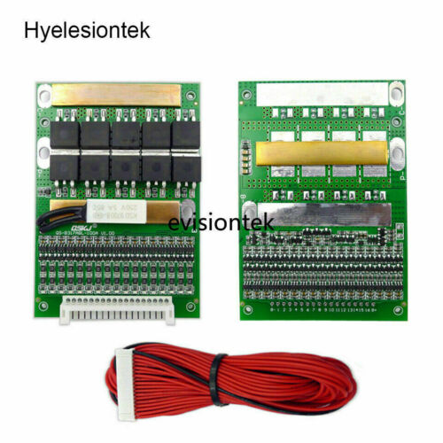 6S to17S Adjustable 50A 4.2V BMS 18650 Lithium Battery Protection Balance Board