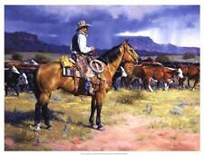 By Hisself by Jack Sorenson Western Cowboy Horseback Sunset Print 24x18 SN LE