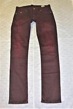 Size 34 x 34, Guess Man's, jeans, SLIM STRAIGHT, M5FAN3D1R52 deep red shade