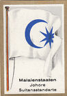 DRAPEAU Malaisie Malaysia State Sultanat Nation Johore Sultan FLAG CARD 30s