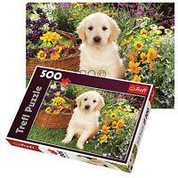 Trefl 500 Piece Adult Large Garden Puppy Labrador Flower Basket Jigsaw Puzzle