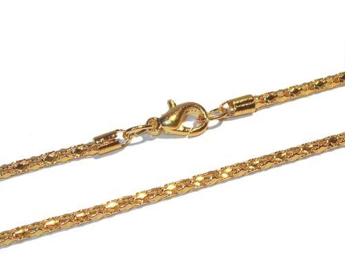 2 mm de ancho Cadena palermo 41 cm de longitud oro chapadas metal-aleación