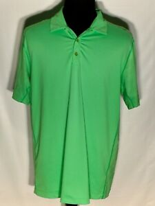Nike-Golf-Tour-Performance-Dri-Fit-Large-Green-Short-Sleeve-Athletic-Polo-Shirt
