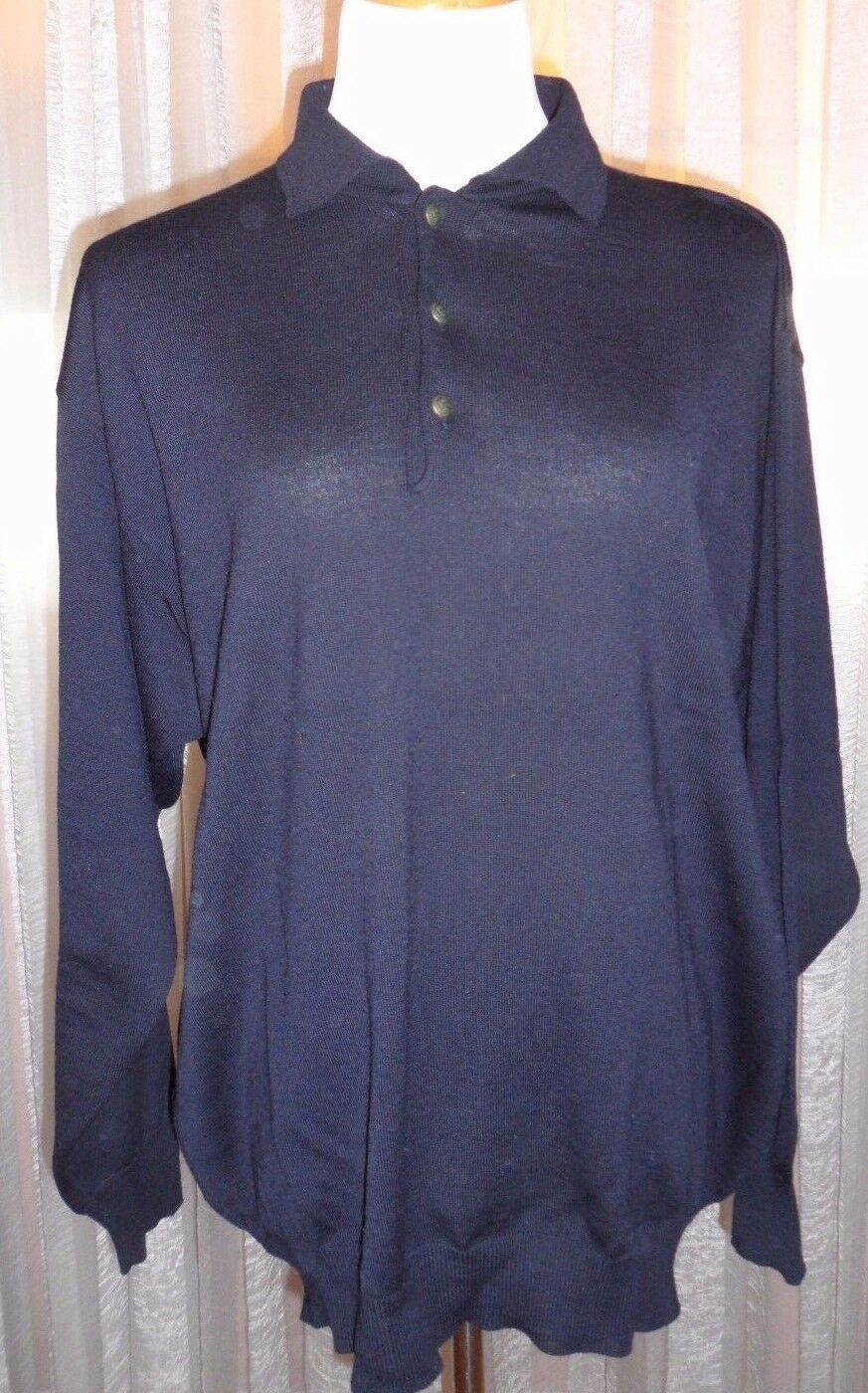 V2 BY VERSACE herren POLO SWEATER SHIRT, PERFECT FIT, MINT CONDITION, L