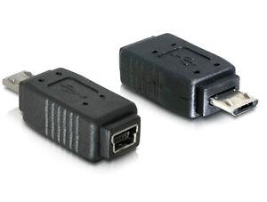 DeLOCK-USB-Adapter-Micro-USB-B-gt-Mini-USB-schwarz