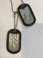 Military Dog Tag Halloween Costume Prop John Rambo Soldier Special Forces Army