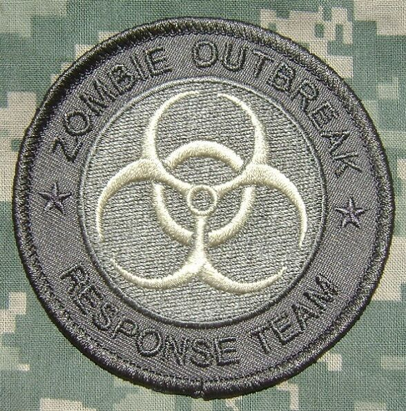 ZOMBIE HUNTER OUTBREAK RESPONSE TEAM COMBAT BIOHAZARD ACU HOOK PATCH