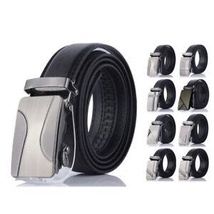 Men-Automatic-Buckle-Belt-PU-Leather-Belts-Waist-Ratchet-Business-Waistband-Hot
