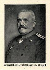 1914 Kampf in Russisch-Polen * Generaloberst von Woyrsch *  WW1