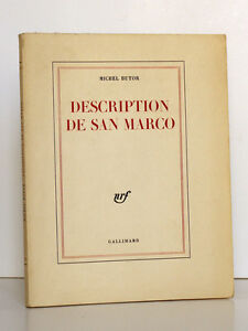 Description-de-San-Marco-Michel-BUTOR-nrf-Gallimard-1963-Premiere-edition