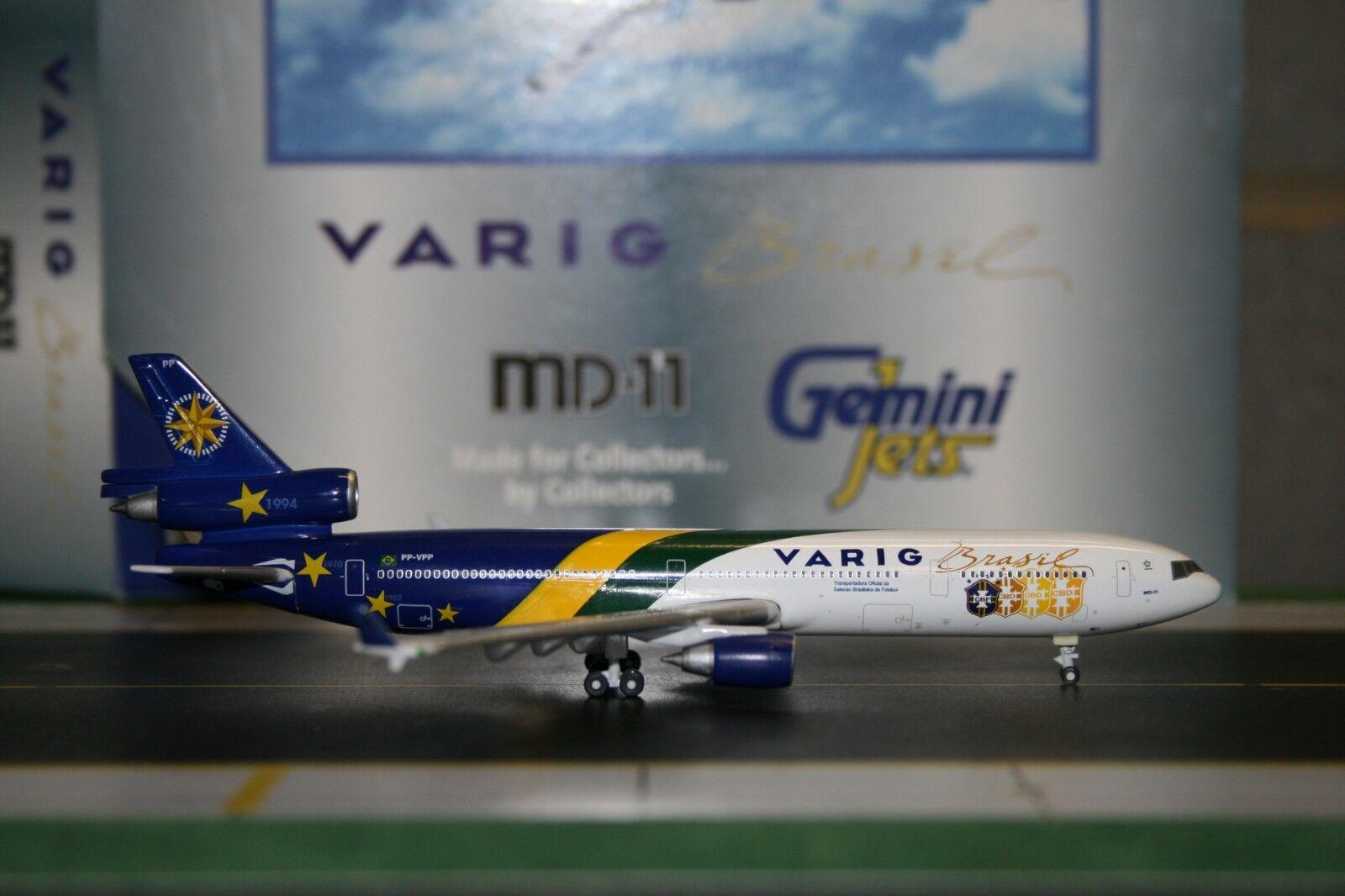 Gemini Jets 1 400 Varig Mcdonnell Douglas MD-11 PP-VPP  World Cup  (GJVRG150)