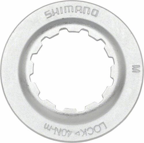 Shimano RT67 Centerlock Disc Rotor Lock Ring Silver for QR Hubs