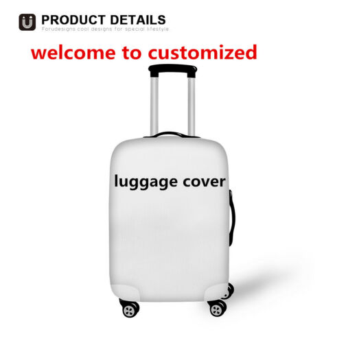 Personalised Custom Travel Luggage Cover Suitcase Protector Carrier Bag Elastic