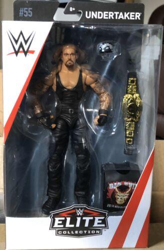 Mattel-totalmente Nuevo WWE Figuras-Elite Serie 55 servicios funerarios con Cinturón Chaqueta