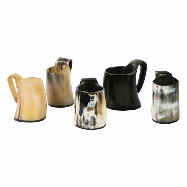 Handicrafts Home Set Of 5 Whiskey Shot Glasses Horn Mug Liqueur Ale