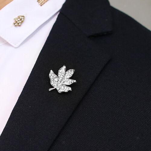 Canadian Maple Leaf Hoja de Árbol joyería Pin Broche Boda Navidad Collar Botón