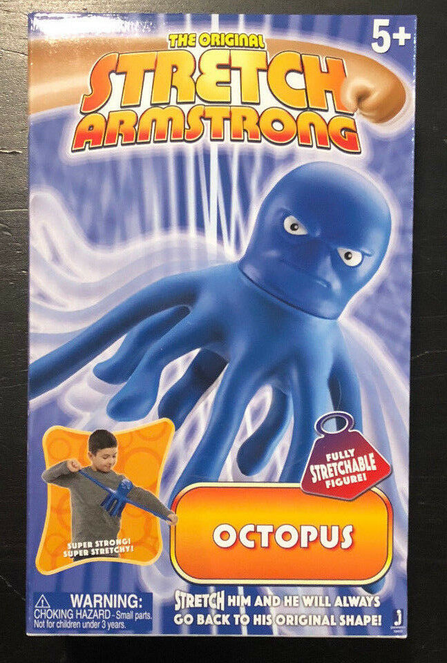 ORIGINAL STRETCH ARMSTRONG OCTOPUS blueE FIGURE SPECIAL NEEDS ADD ADHD THERAPY