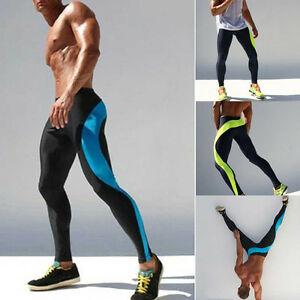 Men-Compression-Pants-Base-Layer-Skin-Tights-Running-YOGA-Workout-Gym-Sports-Hot