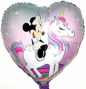 Disney-Minnie-Mouse-Licorne-Fille-Anniversaire-Cadeau-Helium-Ballon-Feuille
