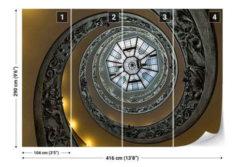 Vatican Museum Spiral Staircase Photo Wallpaper Wall Mural 1X-1045728