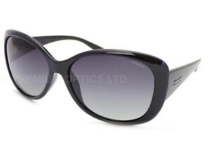 028a7184789ce Image is loading POLAROID-women-039-s-Shiny-Black-Sunglasses-Polarized-