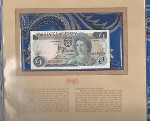 Most Treasured Banknotes Jersey 1 Pound 1976 P-11a UNC Prefix HB