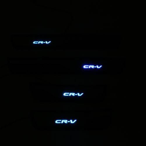 Blue Led Door Sill Scuff Plate Guard 4pcs For Honda CR-V CRV 2017 2018