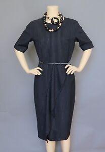 c137af6d54b Max Mara Striped Midi Dress Size 12 with Leather Belt MSRP  1