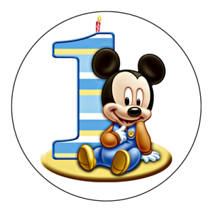 Lovely Image Is Loading Baby Mickey Mouse Edible First Birthday Party Cake