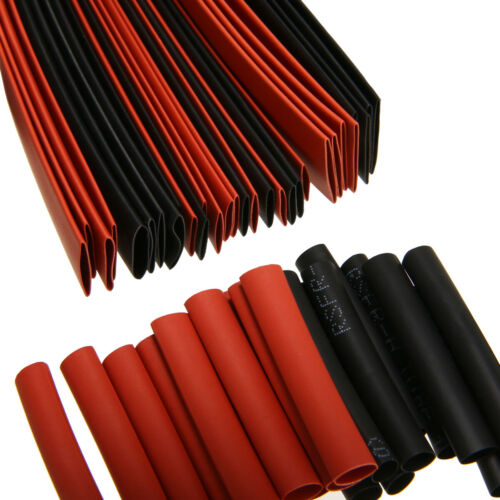 127Pcs Black/&Red Heat Shrink Tubing Kit Wire Electrical Assortment Sleeving Tube