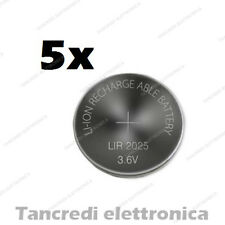 5X Batteria ricaricabile LIR2025 litio bottone rechargeable coin battery lithium