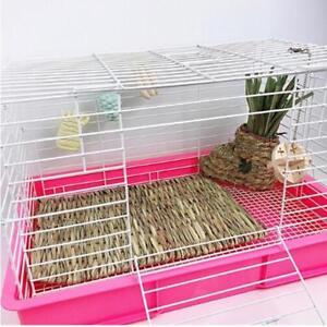 Grass-Mat-Pet-Rabbit-Guinea-Pig-Hamster-Natural-Woven-Straw-Hay-Q