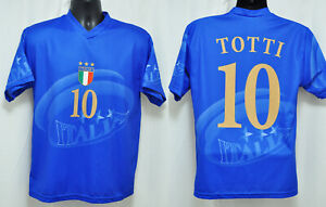 quality design dffc5 05d27 Details about Italy National Football Italia Francesco Totti #10 Soccer  Small S Shirt Jersey