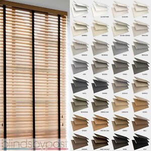 White Wood Venetian Blind With TapesMade To Measure Wood Blinds With Tapes