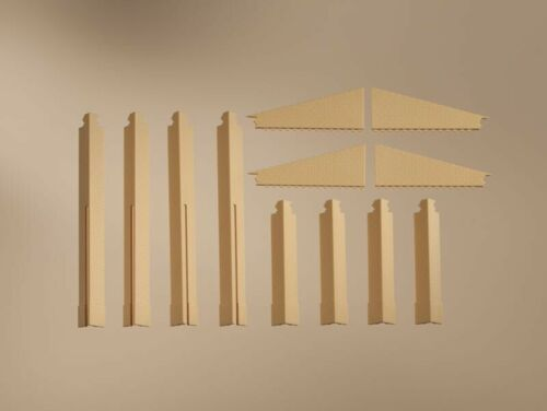 Spur H0 Auhagen 80409 Bausatz-Set Ecksäulen Anbau gelb