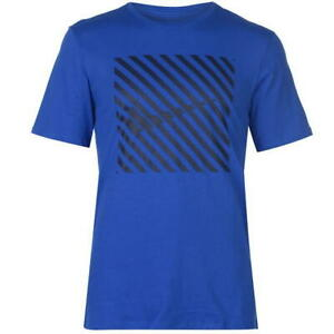 a68f57ec MENS NIKE QT BLUE BLACK STRIPE SHORT SLEEVE CREW NECK TEE SHIRT T ...