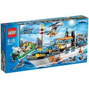 Lego City Coast Guard Patrol Coast Guard 60014 Rare Nouveau épuisé
