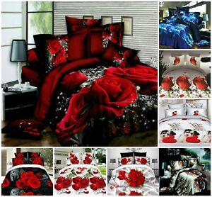 4-Pcs-3D-Design-Housse-De-Couette-complet-ensemble-de-literie-drap-et-2-taies-d-039-oreiller
