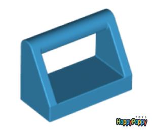 Lego 8x Fliese mit Griff 1x2 Dark Azure Tile 2432 Neuware New