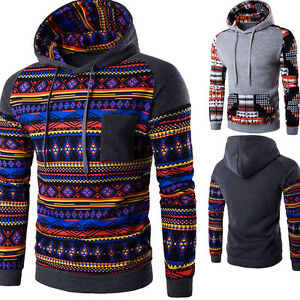 Men-039-s-Hoodie-Warm-Casual-Hooded-Sweatshirt-Jacket-Coat