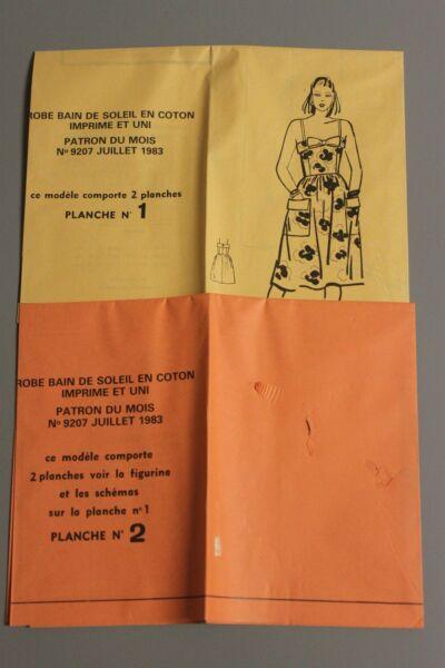 ' MODES & TRAVAUX ' PATRON JUILLET 1983 + PATRON POUPEE M FRANCOISE JEAN MIC A10