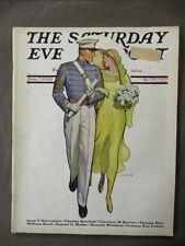 Vintage Saturday Evening Post  June 7, 1930  McClelland Barclay cover art