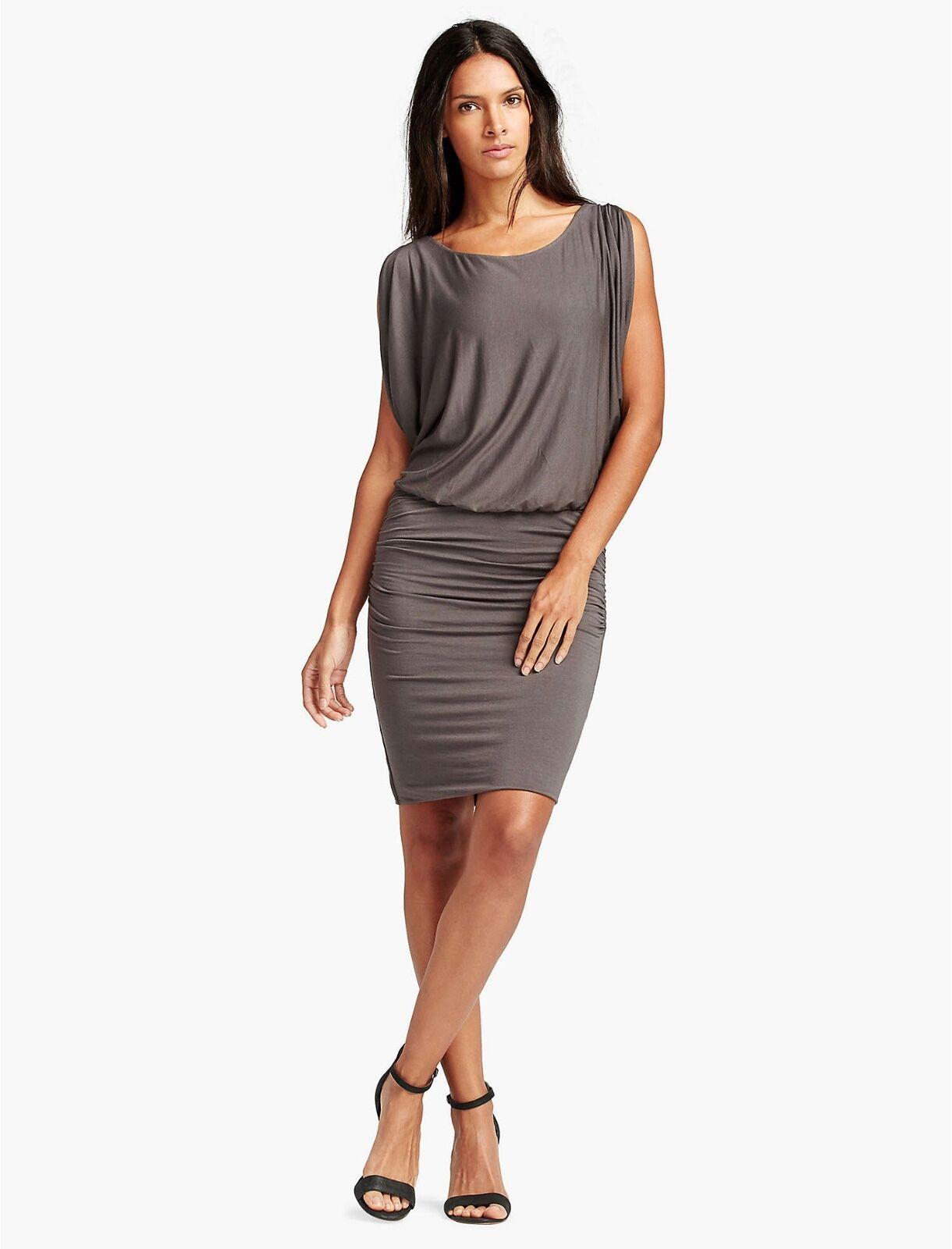 Lucky Brand - Damen XS - Nwt - Braun Gerüscht Kalte Schulter Strick Tulpenkleid
