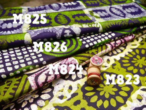 Verde Rosa Estampado De Cera Batik Estilo Tribal Africana Ankara Tela por metro M824