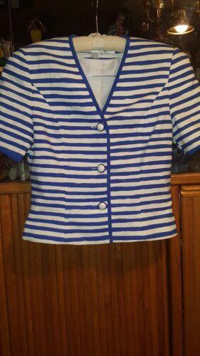 Anne Crimms corte For 10 Umi Blu Collections maniche bianco taglia Stripes qT1UqwSZ