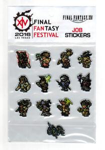 Details about Final Fantasy XIV Fan Festival 2016 Las Vegas Job Stickers