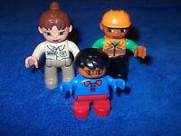 Lego Duplo Ville Familie Mama Papa Kind Figur Hell Dunkelhäutig Zoo Zoowärterin