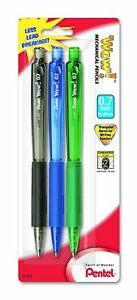 3 Pack 3 Pack, 0.5mm Pentel Icy Automatic Pencil Assorted Barrels
