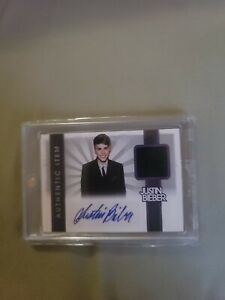 2012 Panini Justin Bieber Collection EVENT-WORN MATERIAL AUTO Nice! READ