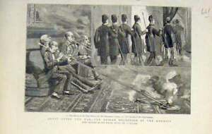 Original-Old-Antique-Print-Egypt-Bairam-Khedive-Villiers-Sketch-1882-Victorian